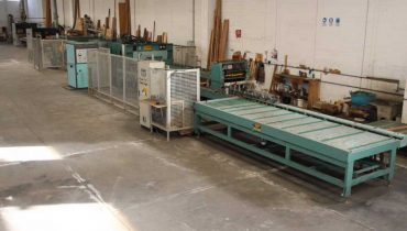 BAIONI NARDI PRESSE TORNADO 4500×1300 pressing line for laminate panels and blockboards BSH Panels