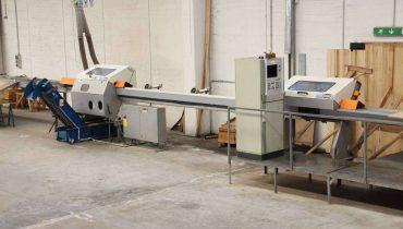 Optimization crosscut saw Paul 11 MKL OPTICUT DOCKING SAWS CNC-Kappanlage